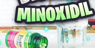Biotina con minoxidil