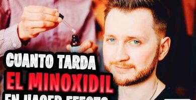 cuanto tarda el minoxidil en hacer efecto en la barba