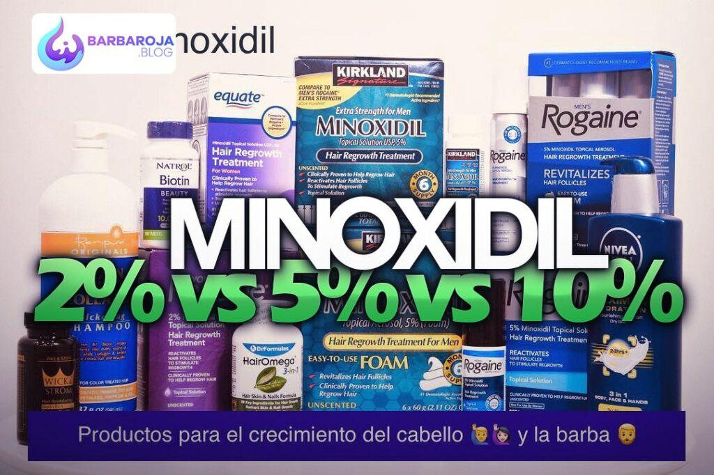Minoxidil 2% vs 5% vs 10%